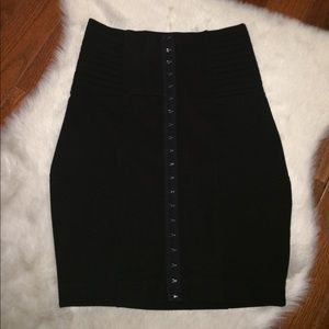 Black stretchy high rise bodycon skirt
